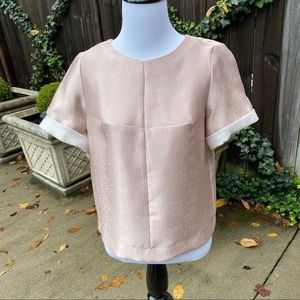 GIANNI BINI Pale Pink Dressy Cropped Top Size S